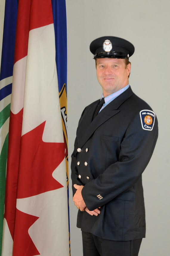 Firefighter Shawn Mathieson