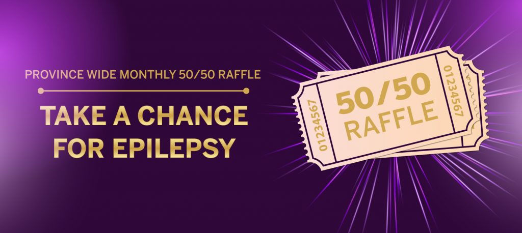 Province-wide monthly 50/50 raffle